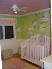 custom hand painted mural nursery