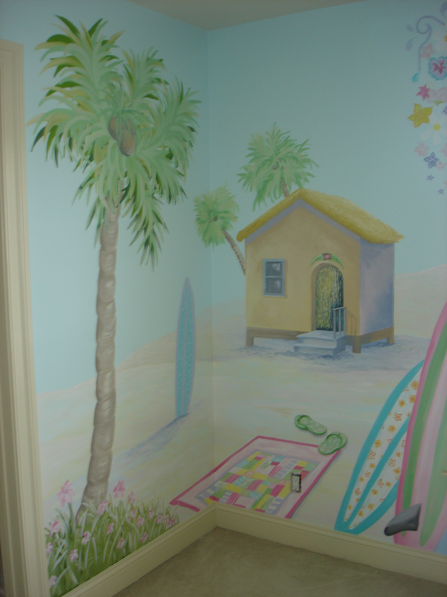 Hand Painted Mural in Nursery, Voorhees, NJ