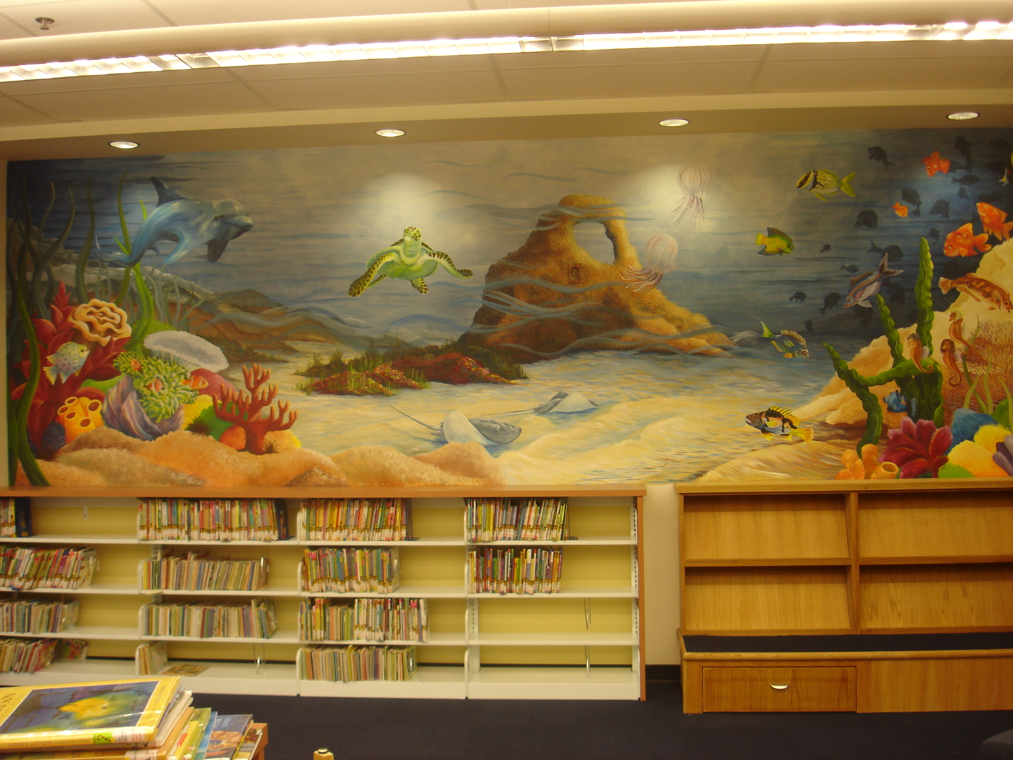 Mural in Children's section of library